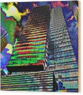 Popart In The Sky Wood Print
