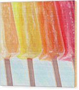 Popcicle Rainbow Wood Print