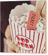 Popcorn Box Office Wood Print