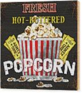 Popcorn Please Wood Print