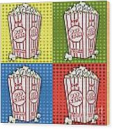 Popcorn Pop Art-jp2375 Wood Print