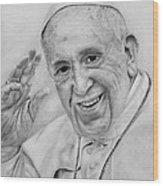 Pope Francis  Wood Print