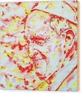 Pope Francis Profile -watercolor Portrait Wood Print