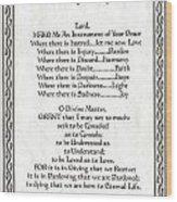 Pope Francis St. Francis Simple Prayer Leaf Parchment Wood Print