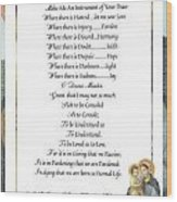 Pope Francis St. Francis Simple Prayer Mary Wood Print by Desiderata Gallery