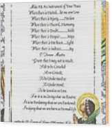 Pope Francis St. Francis Simple Prayer Purity Wood Print by Desiderata Gallery