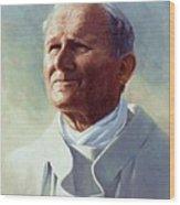 Pope John Paul 2 Wood Print