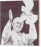 St. John Paul II Wood Print