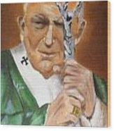Pope John Paul II Wood Print