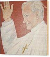 Pope Johnpaul II Wood Print