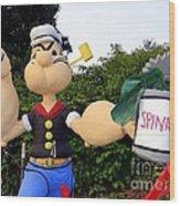 Popeye The Sailor Man Wood Print
