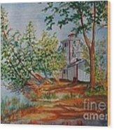 Poplar Point Lighthouse Wood Print