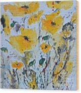 Poppies 03 Wood Print