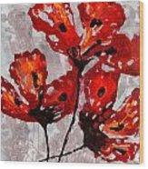 Poppies 47 Wood Print