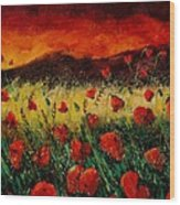 Poppies 68 Wood Print