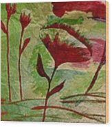 Poppies Abstract 2 Wood Print