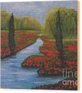 Poppies Guards Wood Print