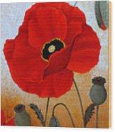 Poppies I Wood Print