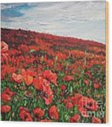 Poppies Impression Wood Print by Andrei Attila Mezei