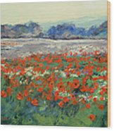 Poppies In Flanders Fields Wood Print by Michael Creese