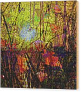 Poppies In Paradise Wood Print