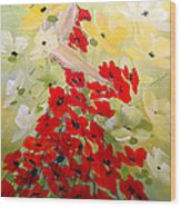 Poppies Lady Wood Print