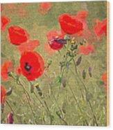 Poppies Viii Wood Print