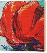 Poppy 3 Wood Print by Vickie Warner