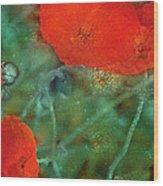 Poppy 30 Wood Print
