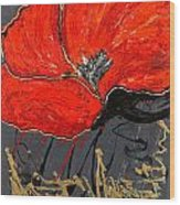 Poppy 43 Wood Print