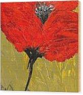 Poppy 46 Wood Print