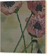 Poppy Breeze A Wood Print