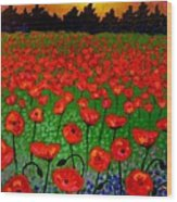 Poppy Carpet  Wood Print