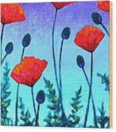 Poppy Corner Wood Print