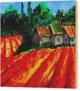 Poppy Field  Sold Wood Print