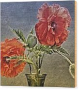 Poppy Flowers Wood Print