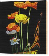 Poppy Pirouette Vertical Wood Print