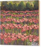 Poppy Romance Wood Print