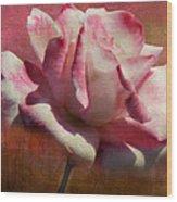 Poppy Rose Wood Print