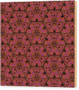 Poppy Sierpinski Triangle Fractal Wood Print