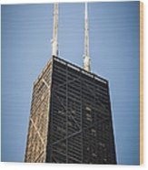 Popular Chicago Hancock Building Skyscraper Wood Print