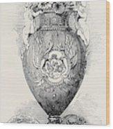 Porcelain Vase, Manufactured At Coalbrooke Dale Wood Print