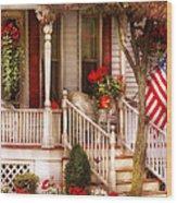 Porch - Americana Wood Print