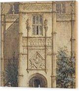 Porch At Montacute, 1842 Wood Print