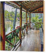 Porch Cultural Center Hawaii Wood Print