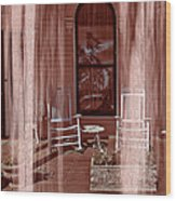 Porch - Dreaming Wood Print