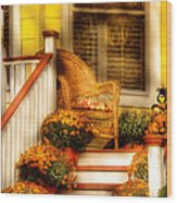 Porch - In The Light Of Autumn Wood Print