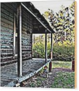 Porch Side Of Old House Wood Print