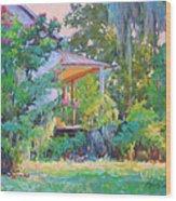 Porch Vision Wood Print