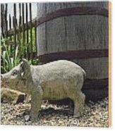 Pork Barrel Wood Print